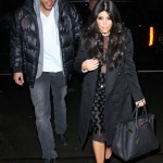 Kim Kardashian and Kris Humphries have dinner with Kourtney Kardashian and Scott Disick (not pictured) in NYC