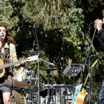 Patty Griffin and Robert Plant perform as part of Hardly Strictly Bluegrass Festival in Golden Gate Park, San Francisco. Courtesy of Tim Mosenfelder Getty Images